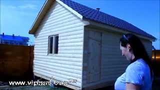 Каркасная баня под ключ 6 на 4 (блок хаус)(, 2014-06-19T08:37:50.000Z)