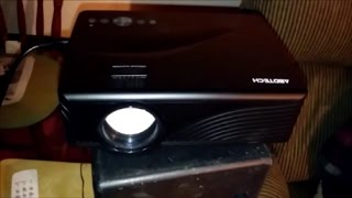 Abdtech 1200 Lumens Mini LED Multimedia Home Theater Projector Review