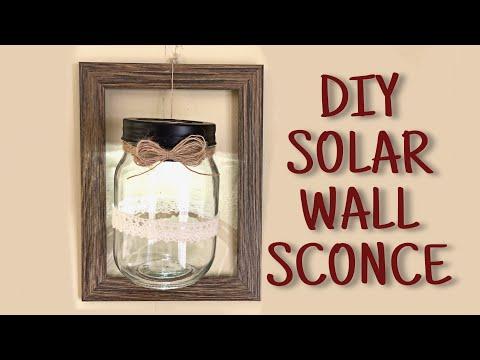 DIY Solar Light Wall Sconce