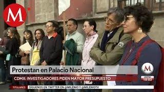 Investigadores piden mayor presupuesto en Palacio Nacional