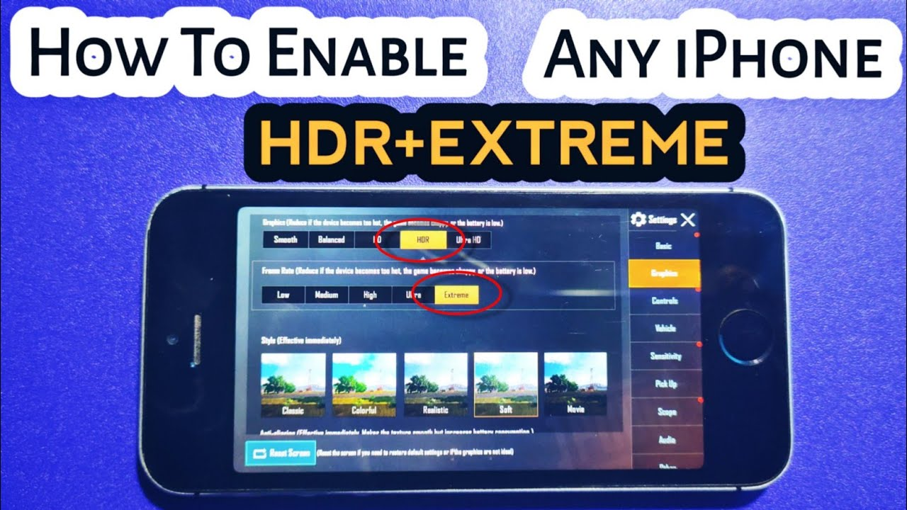 How To Enable/Hack PubgMobile Graphics Settings HDR+EXTREME 60 FPS On Any iPhone 100% Works | VMinds