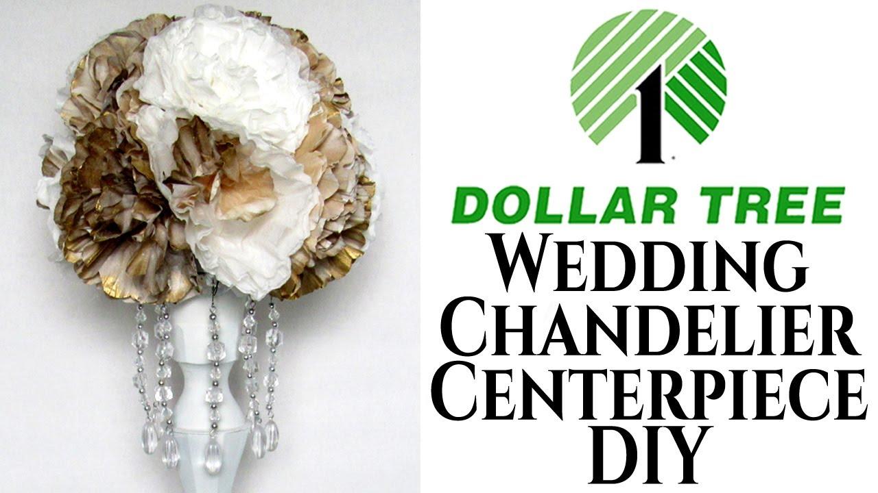 Wedding Centerpiece Chandelier   Dollar Tree DIY - YouTube