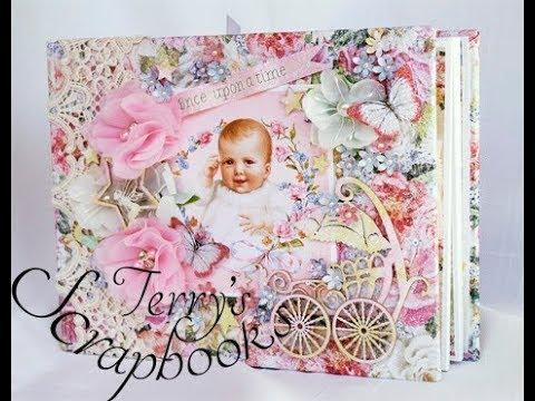 Blue Fern Studios Garden Life Baby Fairy Mini Album Reneabouquets Design Team Project