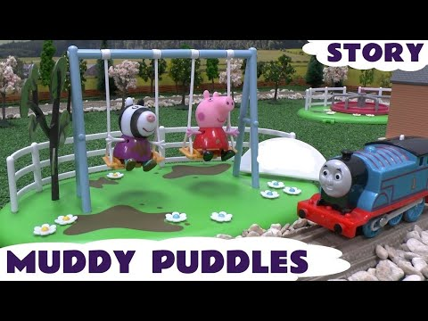 Peppa Pig Muddy Puddle Play Doh Sweet Shoppe Thomas and Friends Ice Cream Swing Story Kids Toys