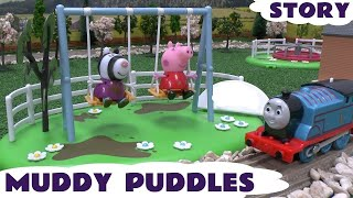 Peppa Pig Muddy Puddle Play Doh Sweet Shoppe Thomas The Train Ice Cream Swing Story Kids Toys