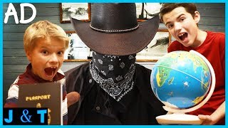 Bandits Box Fort Escape Room! / Jake and Ty