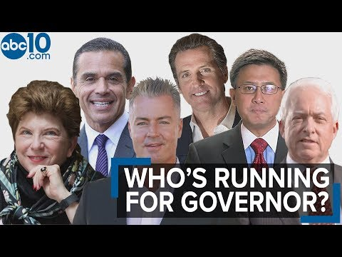 Who are the candidates running for Governor of California?