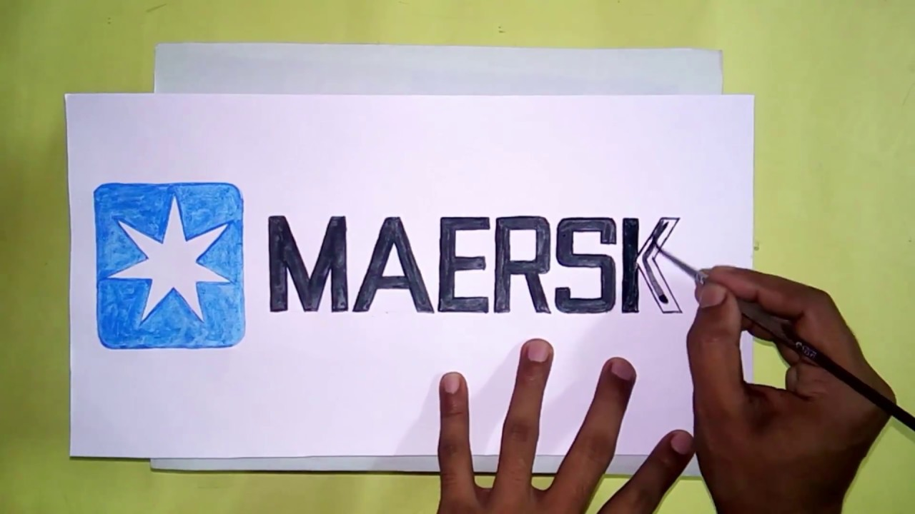 How to draw the Maersk logo
