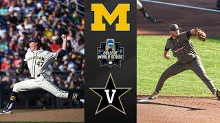 Michigan vs #2 Vanderbilt 2019 CWS Final Game 1 | College Baseball Highlights