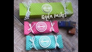 Envelope Punch Board Green & Blacks Bon Bon Wrappers and Coordinating Cracker Style Gift Box