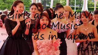 How to say Girls at the MTV Video Music Awards in Japan in English?
