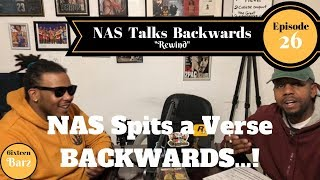 Nas spits a verse BACKWARDS | Barz of the Titans
