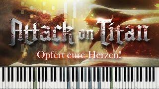 Shingeki No Kyojin - Opfert Eure Herzen!/Shinzou Wo Sasageyo! TV Size [piano Duet]