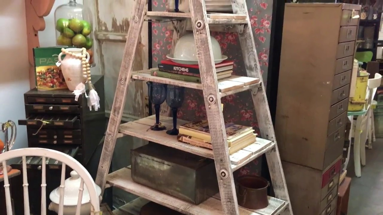 DIY 30 Rustic Wood Ladder Shelf Project Great For All Skill Levels