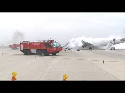 Simulacre accident aeri a l'aeroport  de Barcelona
