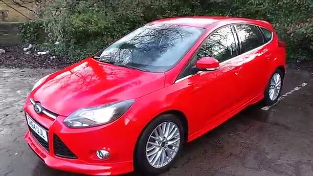 2014 64 ford focus 1 6 tdci 115ps zetec s 5dr in red youtube. Black Bedroom Furniture Sets. Home Design Ideas