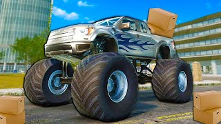 MONSTER TRUCK DELIVERY SERVICE?! - Trucks & Logistics Simulator Funny Moments