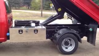 2015 Ram 5500 STE Yard Max 11ft Dump Body + BOSS 9.2 DXT Snowplow Video 2