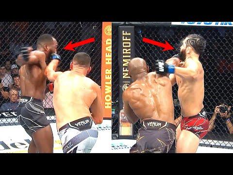 Jorge Masvidal & Leon Edwards CAUGHT by SAME PUNCH (Leon Edwards vs Jorge Masvidal) - TheWeasel