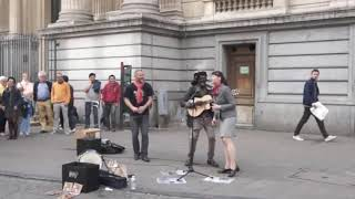 A Random Lady Join the Reggae Busker Lampa FALY Singing Tree LIitle Birds (Dasha pearl )