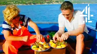 Jamie Oliver Eats The Freshest Fish Straight From The Sea | Jamie's Super Food