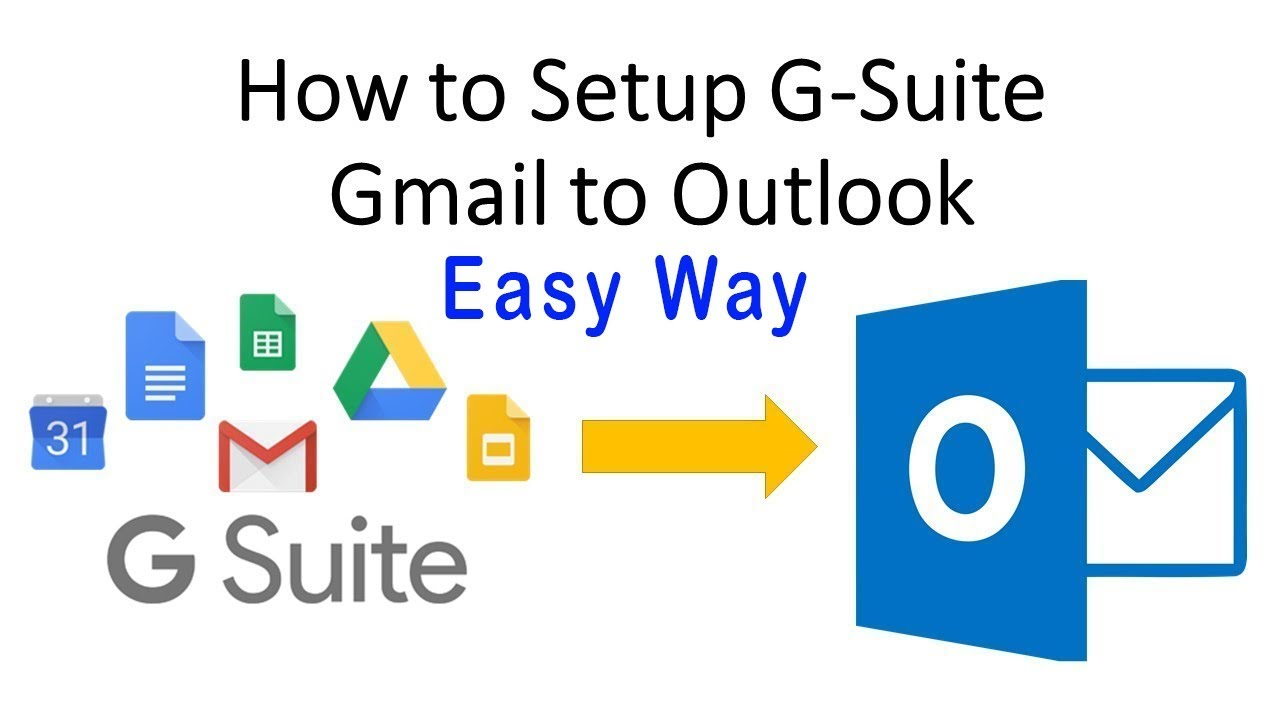 How to Setup G Suite Gmail on Outlook | G-Suite webmail setup in outlook