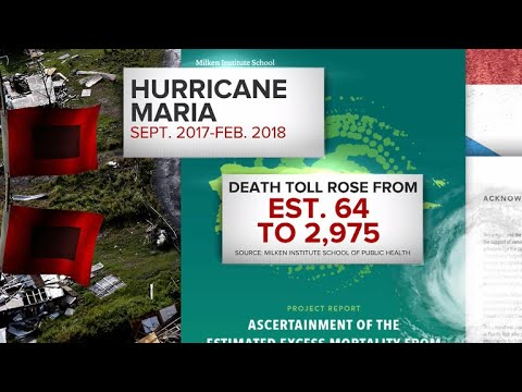 Puerto Ricans react to revised Hurricane Maria death toll