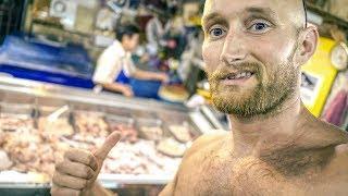 Karl Ess auf Thailands Fleischmarkt!