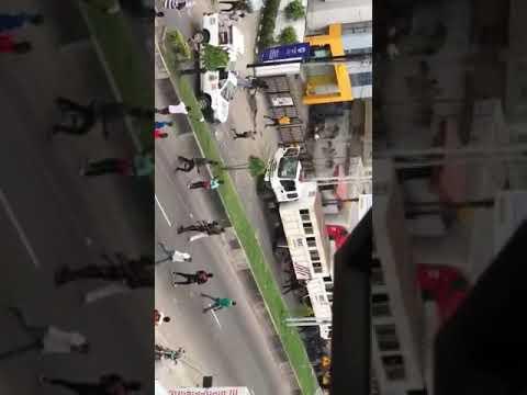 EndSARS protesters attack police in Lagos