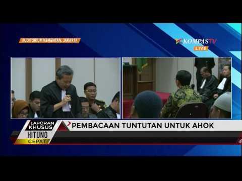 Jaksa Tuntut Ahok Satu Tahun Penjara