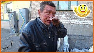 УЖАСНО ГОЛОДНЫЙ Бездомный - 3 дня ничего не ел | СПАСЛИ Бездомного ОТ ГОЛОДА