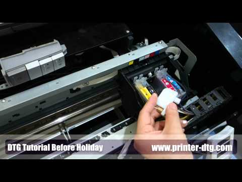 DTG Printer Tutorial : Preparation Before Holiday