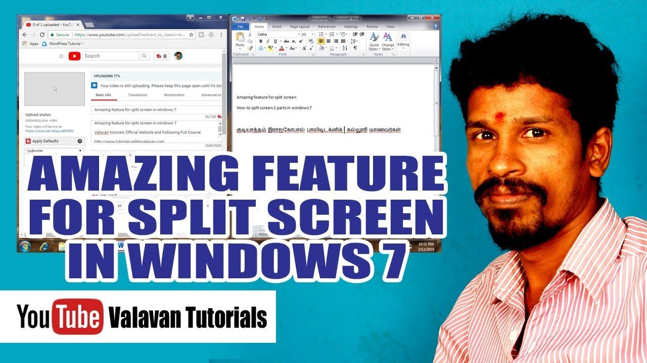 how to split screen on windows 7 youtube