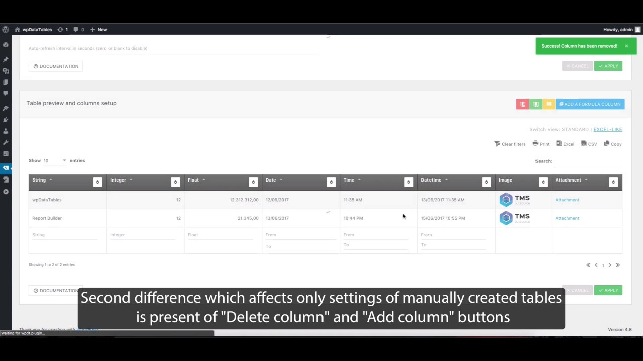 How to configure a table in WordPress with wpDataTables 2.0