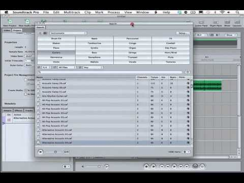 Music in Soundtrack Pro