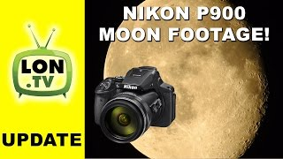 Nikon Coolpix P900 Zoom is a Telescope! Check out this moon detail