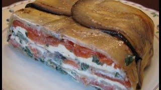 Овощной террин из баклажан, перца и сыра