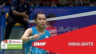 TOTAL BWF SUDIRMAN CUP 2019 | WS | CHINESE TAIPEI VS HONG KONG | BWF 2019