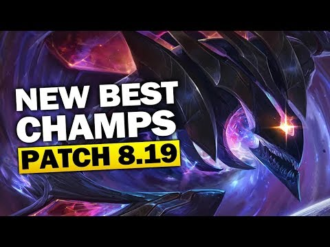 New Best Champions in Patch 8.19 SEASON 8 for Climbing in EVERY ROLE (League of Legends) thumbnail