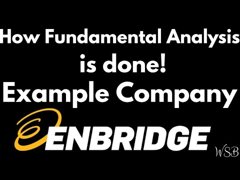 How Fundamental Analysis is done! (Example Company - Enbridge)