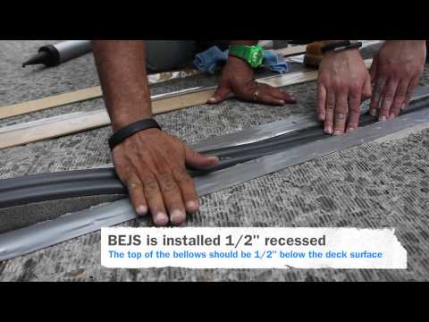 EMSEAL BEJS Installation - Bridge Expansion Joint System