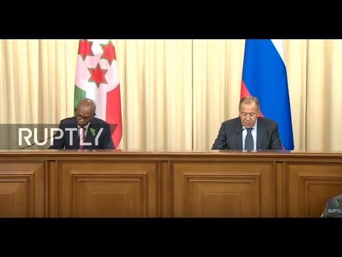 LIVE: Lavrov and Burundi FM give joint press conference in Moscow