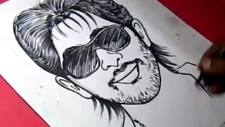How to Draw Hero ALLU ARJUN DRAWING For Kids