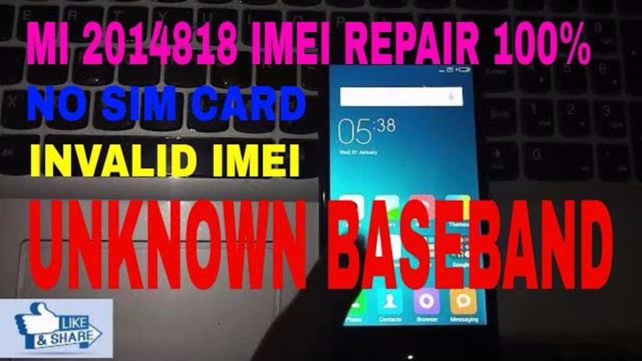 Redmi 2 After flash Inset Sim Invalid Imei Beseband unknown 100% Done