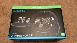 Logitech G920 Unboxing and Gameplay