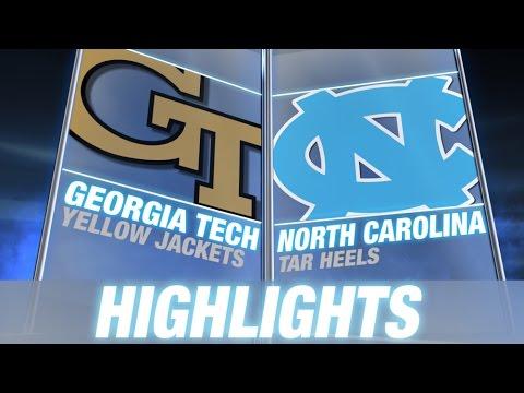 Georgia Tech vs North Carolina | 2014 ACC Football ...