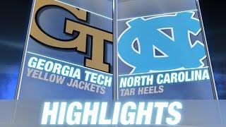 Georgia Tech vs North Carolina | 2014 ACC Football Highlights