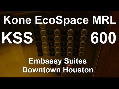 Mini tour, elevator ride & view at Embassy Suites in Downtown Houston, TX.