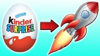 DIY - Ракета из КИНДЕР СЮРПРИЗА. Как сделать ее дома?