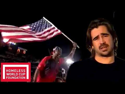 Colin Farrell Explains how the Homeless World Cup Began | Throwback
